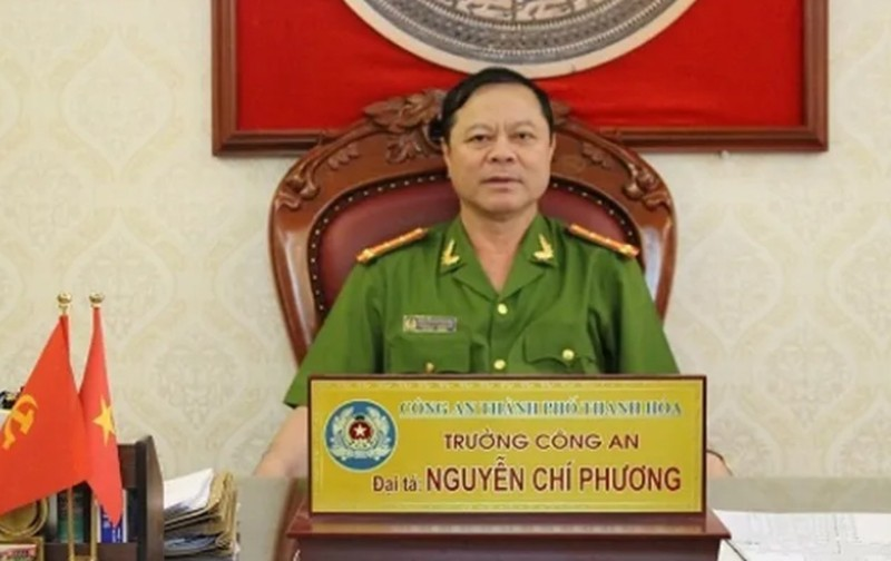 Cuu Truong Cong an thanh pho Thanh Hoa bi truy to