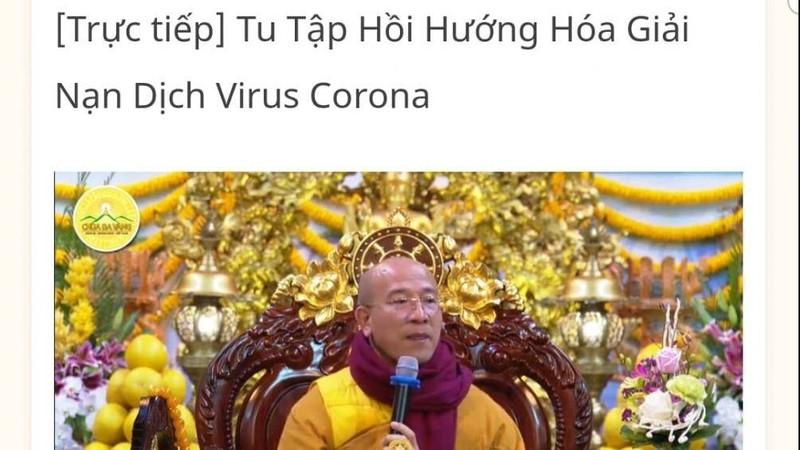 Tranh cai su tru tri chua Ba Vang bay cach