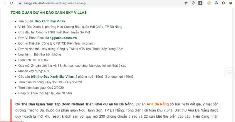 Du an Dao Xanh Sky Villas o Da Nang sai pham, ai la chu so huu?-Hinh-2