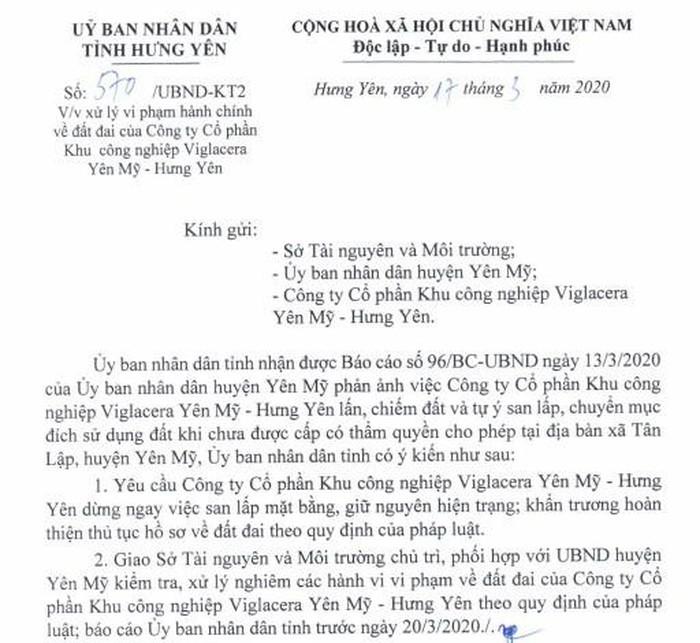 "Khu cong nghiep cua Viglacera vuong sai pham gi...Hung Yen ""tuyt coi""?"