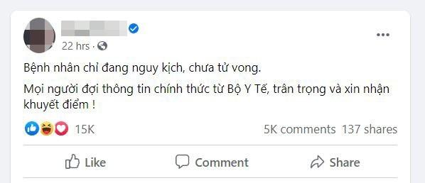 Moi Facebooker Nguyen Sin lam viec vu loan tin nguoi chet vi Covid-19
