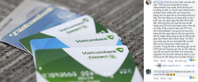 Chu the Visa Credit Vietcombank khong mua hang van bi tru tien?