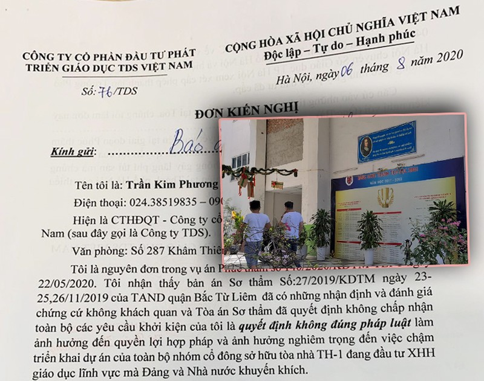 "Tranh chap Cty TDS-Truong Newton: Phien so tham va loat cau hoi ""mong"" lam ro o phuc tham?"