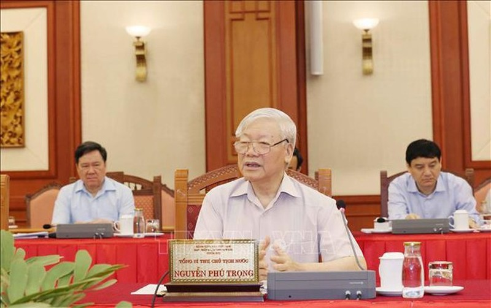 Bo Chinh tri hoan thanh chuong trinh lam viec voi 67 dang bo truc thuoc Trung uong