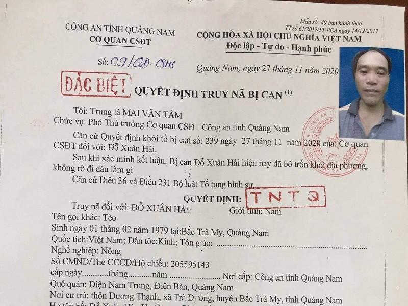 Truy na bi can dung sung ban 4 nguoi thuong vong o Quang Nam