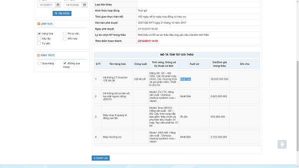 SYT Bac Lieu mua may CT Scanner gia cao bat thuong: Soi lien danh T&C Ha Noi - Duoc pham TTBYT T.D