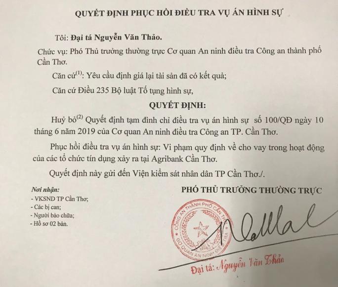 """Phuc hoi dieu tra """"dai an"""" 1.000 ty dong o Can Tho"""
