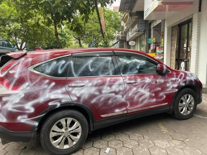 Cong an TP Hai Phong thong tin vu xe Honda CRV bi phun son