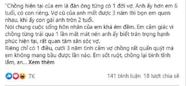 Cuoi 3 nam khong mang bau, vo doc suc cham con rieng cua chong
