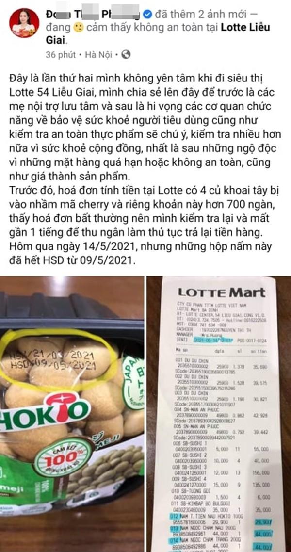 Sieu thi LOTTE Mart Ba Dinh ban thuc pham het han cho khach?