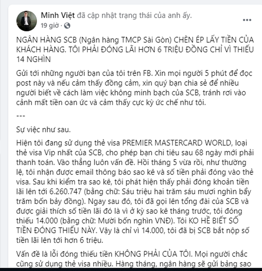 "Ngan hang TMCP Sai Gon bi to ""chen ep"" lay tien khach?"