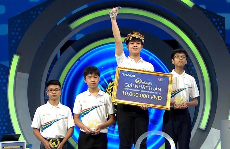Olympia nam thu 22 doi luat choi, nam sinh Thai Binh gianh chien thang dau tien-Hinh-3