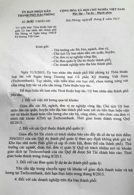 """Hai Phong gui van ban """"uu tien"""" Techcombank: Chuyen gia kinh te noi gi?"""