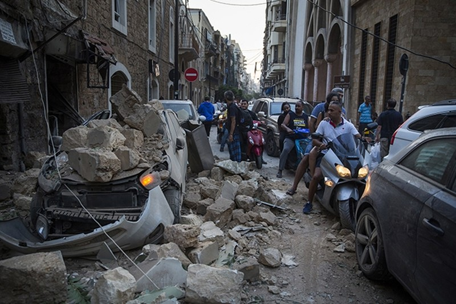 My nghi vu no lon o Beirut la danh bom