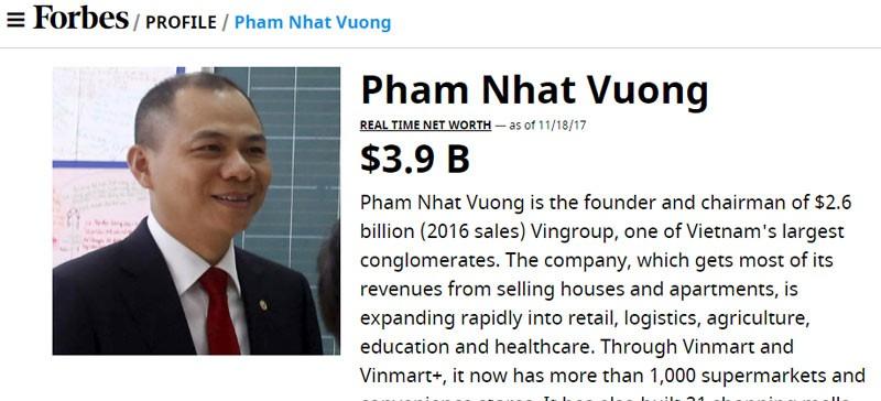 Ty phu Viet, nhung khoi tien ty USD Forbes khong ngo toi