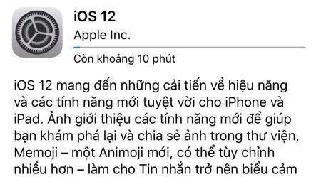 Nguoi dung iPhone, iPad Viet Nam da co the tai ve iOS 12