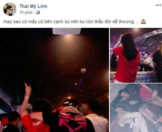 Sau nghi an ban dam, A hau Thai My Linh khoe anh di bar hit bong cuoi