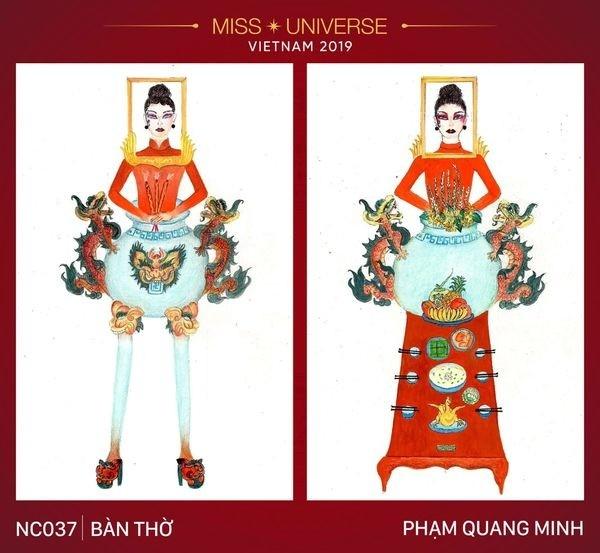 Thiet ke trang phuc cho Hoang Thuy du Miss Universe gay tranh cai du doi
