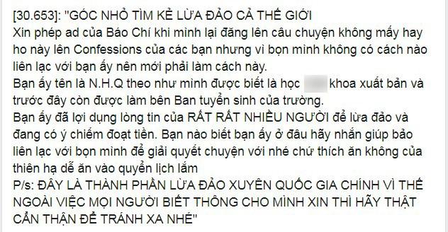 """Nu sinh noi tieng Ha Noi bi to """"lua dao"""" xuyen quoc gia, dao mo ban trai"""