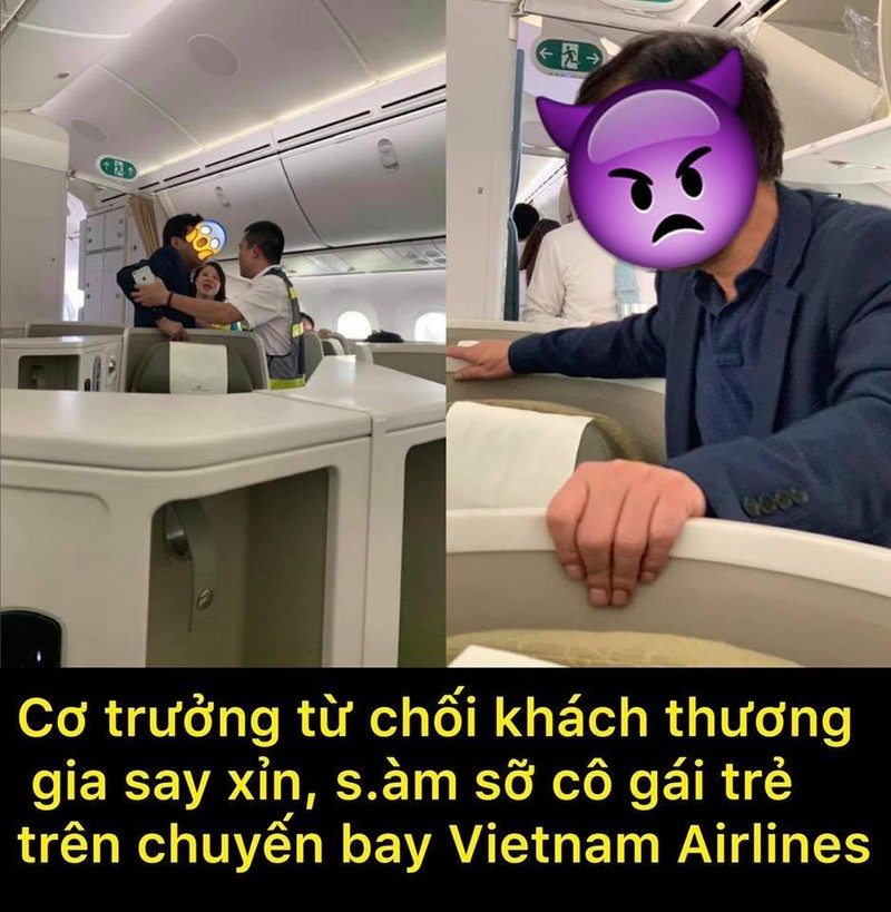 Hanh khach thuong gia sam so co gai tre tren may bay