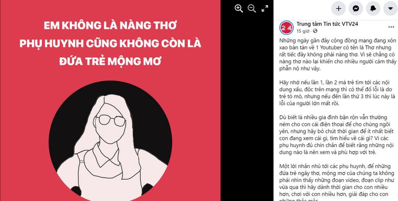 VTV24 dang tam thu ve YouTuber Tho Nguyen: Em khong la nang tho-Hinh-3