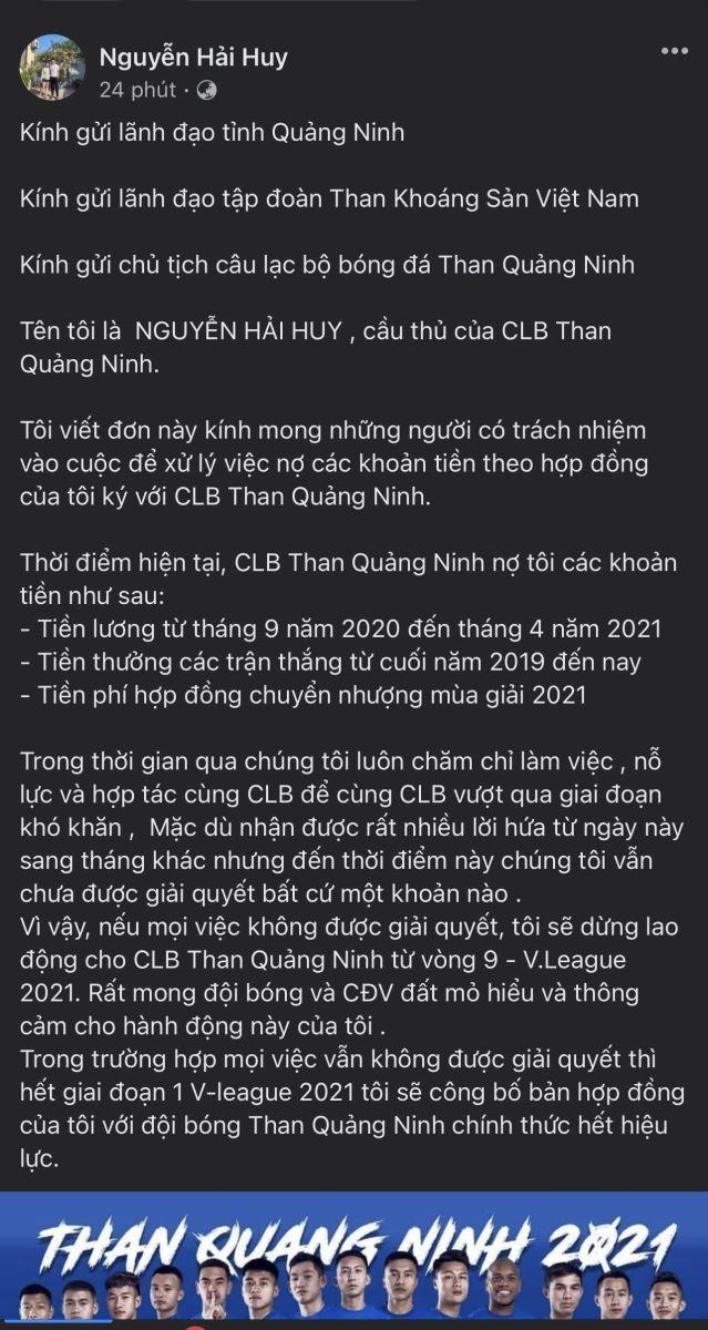 Cau thu Than Quang Ninh tuyen bo nghi choi tu vong 9 V-League-Hinh-2