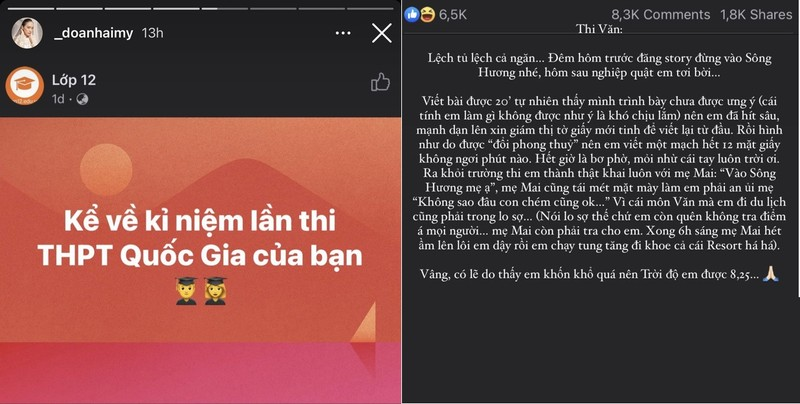 Ban gai Doan Van Hau khoe ky niem di thi tot nghiep THPT-Hinh-2