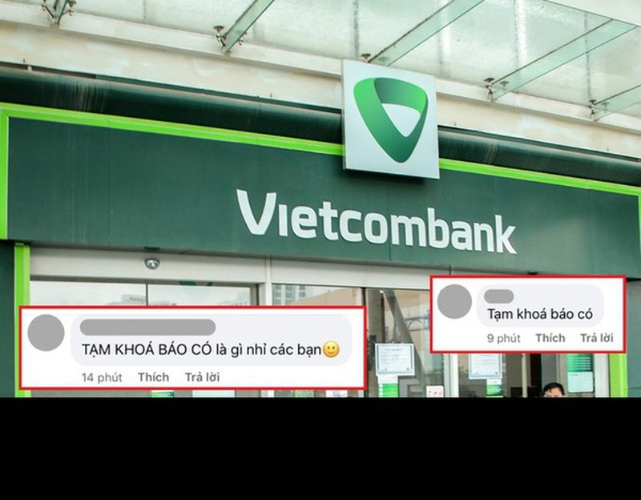 "Hau ""tam khoa bao co"", netizen vao page Vietcombank hoi lap quy den"