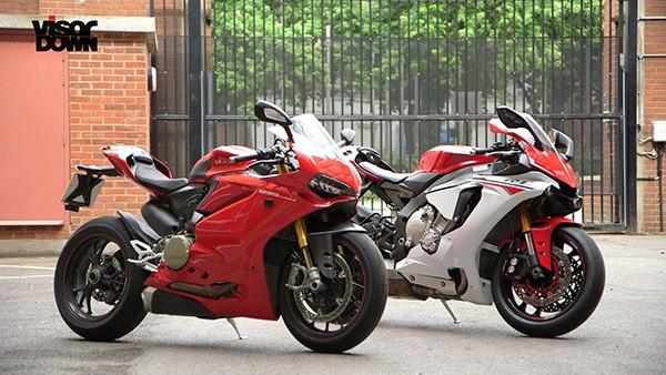 Xem Visordown so sanh Yamaha R1 va Ducati 1299 Panigale S