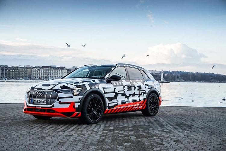 Xe sang chay dien Audi e-tron sap ra mat