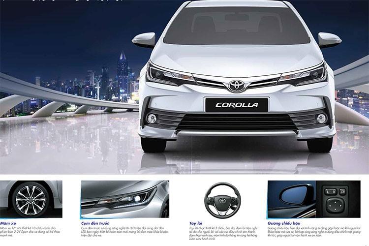 Toyota Corolla Altis moi gia 678 trieu tai Viet Nam co gi?