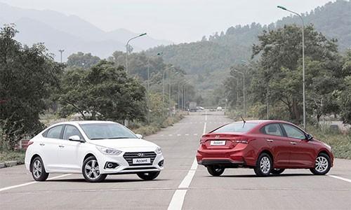 Gan 1700 xe Hyundai Accent ban ra trong thang 10/2018