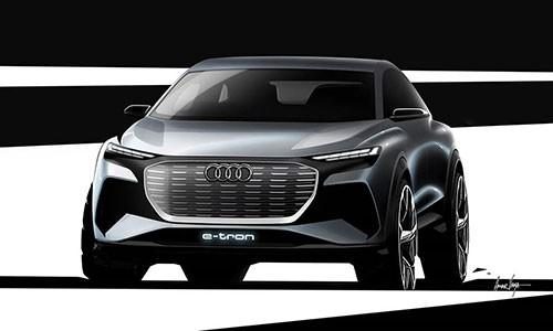Xe dien Audi Q4 e-tron Concept sap ra mat toan cau