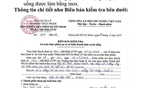 Truong Quoc te Viet Uc suat com co gioi: Kiem tra dot xuat