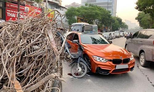 Ha Noi: Sedan BMW 3-Series tien ty bi xe ba gac