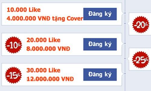 Facebook se xoa tai khoan nguoi dung mua like tai Viet Nam