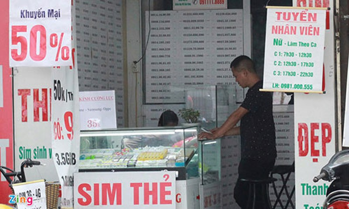 SIM di dong khong chinh chu co the bi phat 500.000 dong