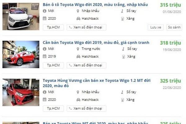 Toyota Wigo bat ngo duoc dai ly