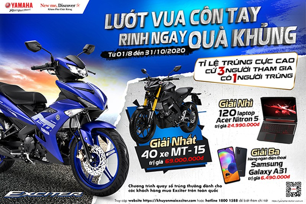 Yamaha Viet Nam manh tay uu dai cho