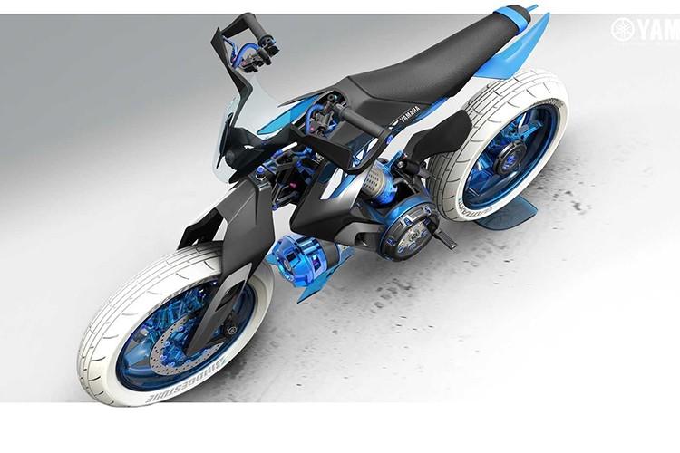 Yamaha XT500 H20 - xe moto chay nhien lieu nuoc cho 2025-Hinh-3