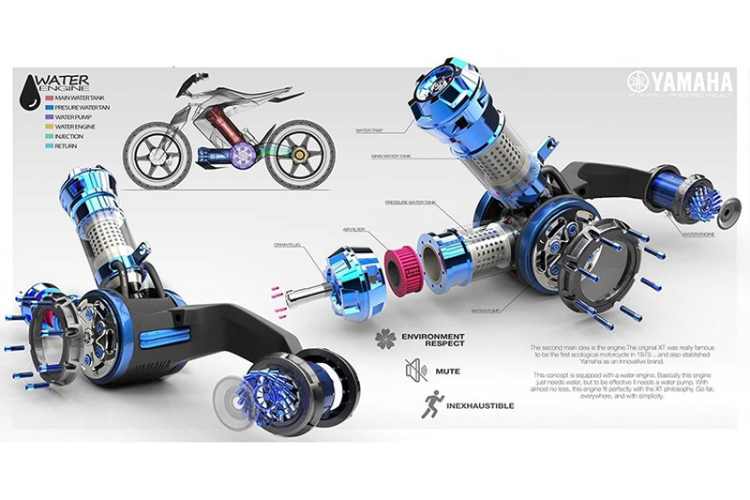 Yamaha XT500 H20 - xe moto chay nhien lieu nuoc cho 2025-Hinh-5