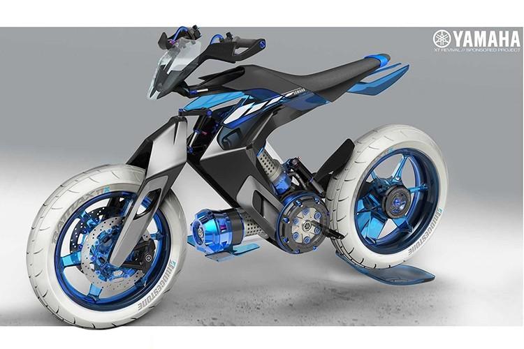 Yamaha XT500 H20 - xe moto chay nhien lieu nuoc cho 2025