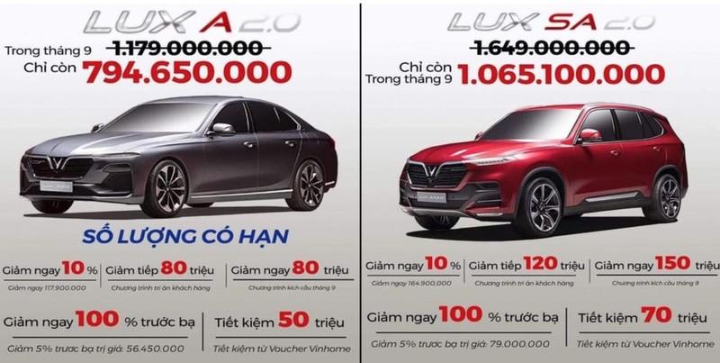 VinFast Lux bat ngo giam manh, ban ra chi ngang Mazda3?