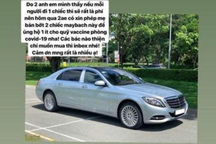 Theo thông tin đăng tải, hai chiếc xe được Rich kid sinh năm 2003 này rao bán đều mang nhãn hiệu Mercedes-Maybach S 500.