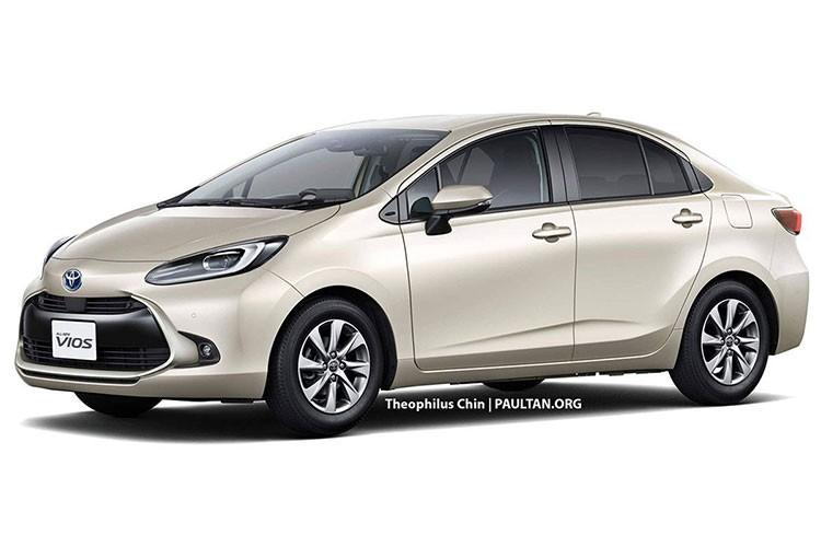 Toyota Vios the he moi sap trinh lang, co them ban hybrid-Hinh-2