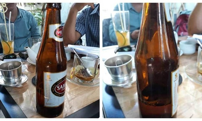 Kien Sabeco doi boi thuong hon 39 trieu cho 1 chai bia