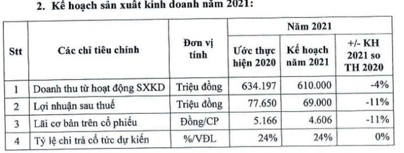 C32 dat ke hoach loi nhuan di lui 11% cho nam 2021