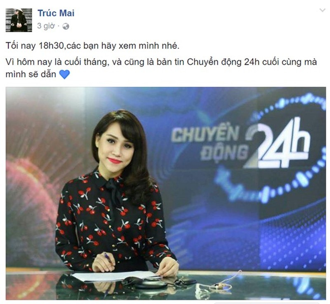 MC Truc Mai bat ngo nghi viec o VTV24