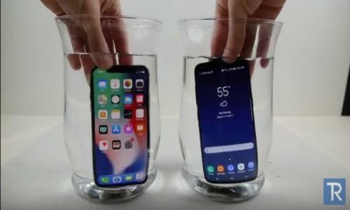 """BAT NGO: iPhone X """"chet sac"""", Galaxy S8 van song trong nuoc lanh"""