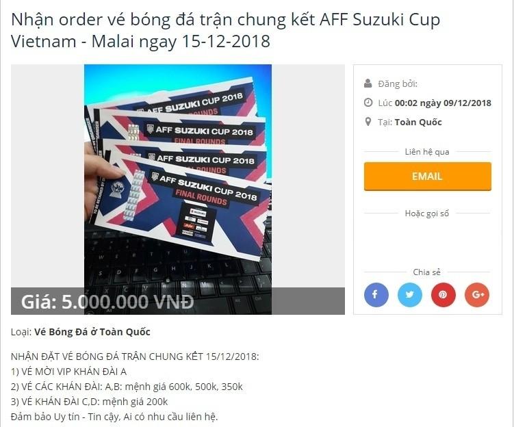 Ve chung ket AFF Cup chua ban, dan phe da